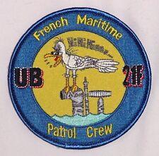Aufnäher Patch Abzeichen French Maritime Patrol Crew UB 21F .........A2112K