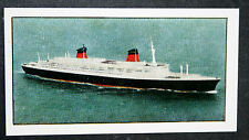 SS FRANCE   CGT  French Line       Illustrated Colour Card