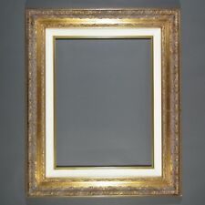 Antiqued Gilded Wooden Frame with Canvas Liner, Louis XIII Style