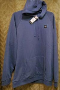 Under Armour Men's Big&Tall Hooded Sweatshirt UA Rival Fleece Size 3XLT 1357092