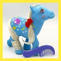 Vintage MLP Night Glider G1 My Little Pony Blue Body White Hair