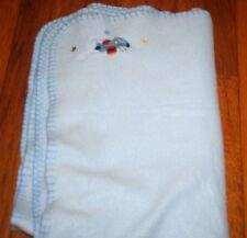 Airplane blue baby blanket