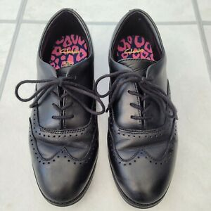 Girls Clarks Black School Shoes Brogues 4 E