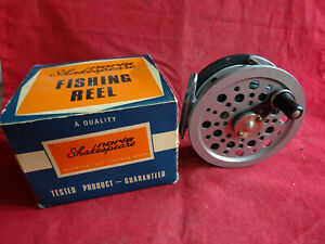 """A VERY GOOD BOXED SHAKESPEARE 3 1/2"""" SPEEDEX TROUT MULTIPLIER FLY REEL"""