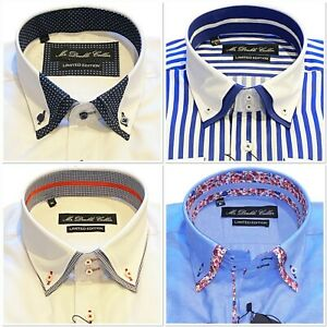 Mens Summery Luxury Double Collar Shirt Premium Quality -  Limited Edition