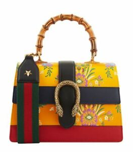 GUCCI Bamboo Top Handle Bag Dionysus Floral Jacquard Alessandro Michele Rare !