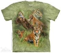 Wild Tiger Collage T-Shirt by The Mountain. Jungle Zoo Sizes S-5XL NEW