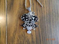 """Icp """"The Great Milenko """" Polished Stainless Steel pendant w/30 inch ball chain"""