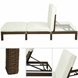 Coussin tressée Chaise Longue Bain de soleil meuble de Jardin en Résine Transat