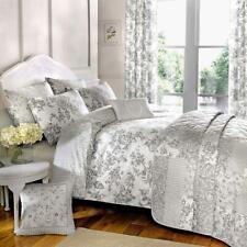 Dreams N Drapes Malton Slate Duvet Cover 66x72 Curtains (pp)