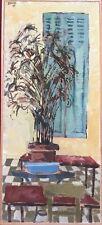 Peter DAVIES 1923-2003.Intérieur.Huile/papier marouflée/panneau.26x11.SHG.1962.