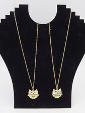 Adorable New Gold Tone Owl Best Friend Necklace Set #N2252