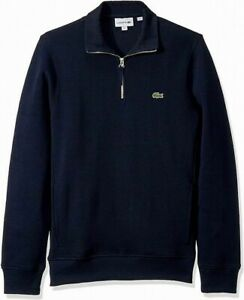 Lacoste Men's Sweater Blue US Size XL FR 6 Classic-Fit Pullover $98- #185