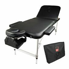 Aluminium Portable Massage Table 75cm - Black