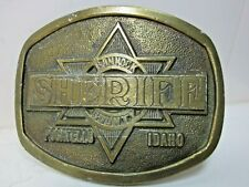 Limited Edition ~Sheriff~ Belt Buckle by Wyoming Studio Art Works - Made in Usa
