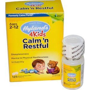Hyland's, Calm' n Restful 4 Kids, 125 Quick-Dissolving Tabs - Original UK Stock!