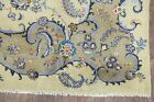 Vintage Floral Sage Green 9x13 Traditional Oriental Area Rug Hand-Knotted Carpet