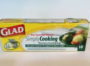 Glad Simply Cooking Microwave Steaming Bags 10 Pack Discontinued New in Box