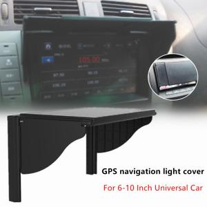 6-10 IN Universal Car GPS Navigation Light Cover Barrier Sun Visor Sunshade Hood