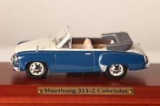 Atlas 1:43 Rda Auto Wartburg 311-2 Convertible Azul sin Abrir Emb.orig (37052)