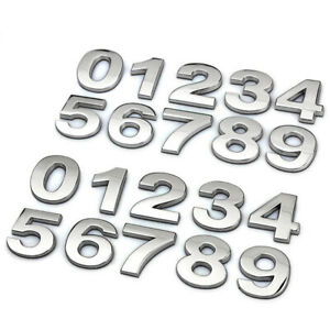 Car 3D DIY (A~Z)(0~9)Metallic Alphabet Sticker Emblem Letter Silver Badge Decal