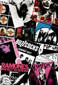 PUNK STICKERS. Buzzcocks, Ramones, X-Ray Spex, Siouxsie, Cure, Jam, Blondie. etc