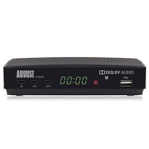 August DVB400 HD Freeview Set Top Box 1080p TV Recorder Multimedia Player Refurb