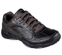 64933 Black Skechers shoes Men Memory Foam Sporty Casual Comfort Leather Sneaker