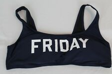 J.Crew $54 Friday Sporty Swim Top Navy Blue XL Extra Large NWOT G3783