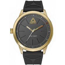 Reebok RD-LIF-G2-S2IB-B2 Men's Black Silicone Band With Grey Dial Watch NWT
