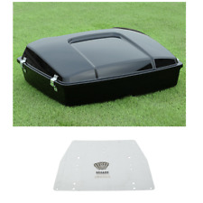 "5.5"" Razor Pack Trunk & Base Plate For Harley Tour Pak Street Road Glide 97-13"