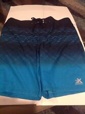 Zx Zeroxposur size X-large Swimwear Skate Shorts Style Striped Navy, Teal, White