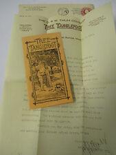1917 TREE TANGLEFOOT Advertising with Original Letter & Envelope