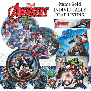 AVENGERS Birthday Party Plates Napkins Tablecover Banner