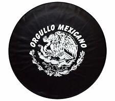 """15"""" SPARE TIRE COVER ORGULLO MEXICANO BLACK HEAVY DUTY VINYL TIRE COVER"""