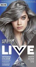 5 X Schwarzkopf Live Intense Colour U72 Urban Metallics DUSTY SILVER Permanent