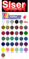 "SISER Glitter Heat Transfer Vinyl Tshirt /Textile HTV 20"" x 1 ft by precision62"