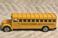 vintage American Yellow School Diecast Bus  Toy Model Very Cute