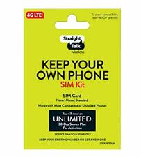 Straight Talk Bring Your Own Phone Universal Sim Card Pack Verizon At&T T-Mobile