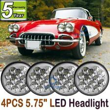"4pcs 5.75 5-3/4"" inch round LED Headlight for Chevy GMC Corvette C1 C2 1963-1982"