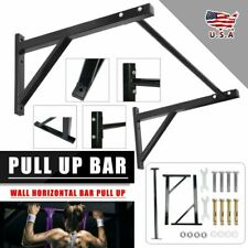 New listing Wall Mounted Heavy Duty Chin Pull Up Bar Gym Workout Training Fitness Mount set