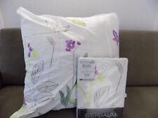 Bierbaum Bettwäsche Mako-Satin 135x200/80x80cm Bettgarnitur Blumen Landhaus grün