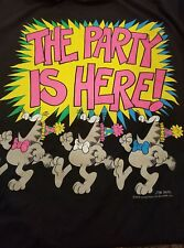 Vintage 70s Garfield The Party Is Here T-shirt 1978 Jim Davis Comics 2X Mint