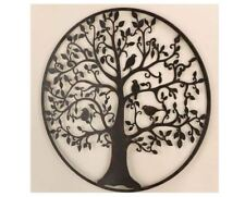 Metal Tree Of Life Wall Decor Plaque Birds Large Iron Hanging Nature Art Leaves