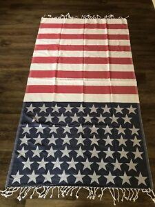 USA American Flag,Beach Towel,Turkish Peshtemal,100%Cotton,Hammam Towel