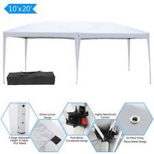 10' x 20' Ez Pop Up Gazebo Wedding Supply Sunshade Garden Canopy Tent White +Bag