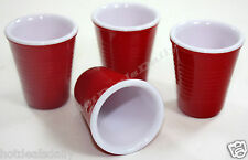 SET OF 4 RED SHOT GLASSES LOOKS LIKE SOLO CUP BPA FREE BEER PONG COLLEGE FUN