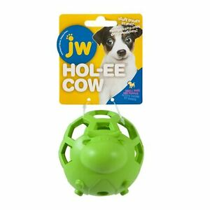 JW Hol-ee Cow Small Dog Chew Toy Play Durable Non Toxic Fill with Treats