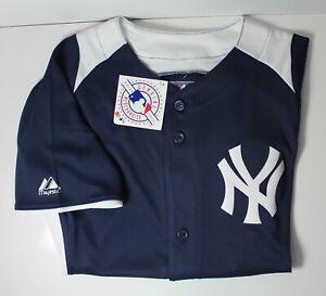 NY Yankees MLB Majestic Youth Large Cool Base Jersey NWT