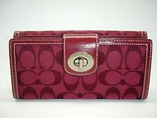 Coach Signature Envelope Wallet,Turn Lock&Flap Snap up Wallet Leather trim 43609